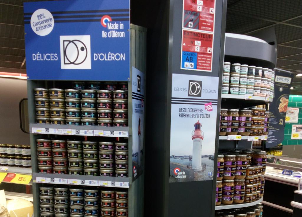 points de vente Les Délices d'Oléron - Delphine et Olivier