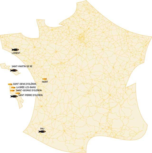 nos points de vente pêcheries-de-la-cotinière - Delphine et olivier